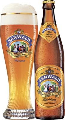 Sanwald, mas cerveza alemana de trigo y mas copas de regalo.